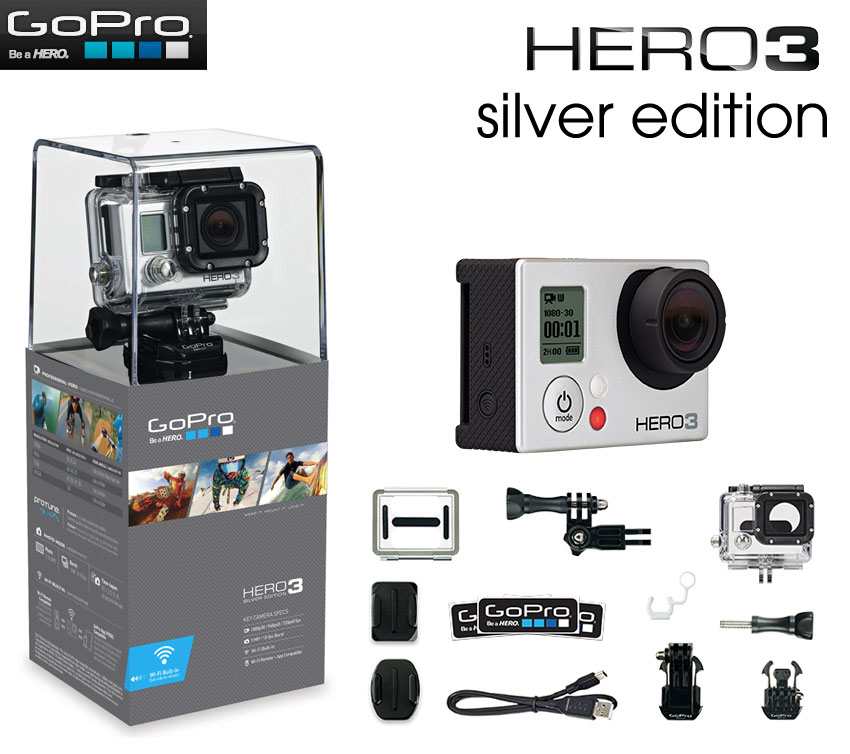 Camera Thể Thao Gopro Hero 3+ silver