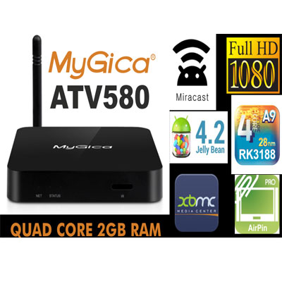 ATV580 Quad Core Nano Android TV Box