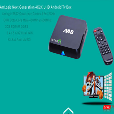 SkyboxTv M8, Quad Core 2.0, Ram 2Gb, 4K
