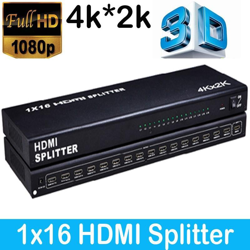 HDMI Splitter 1x16 video 3D 4kx2k